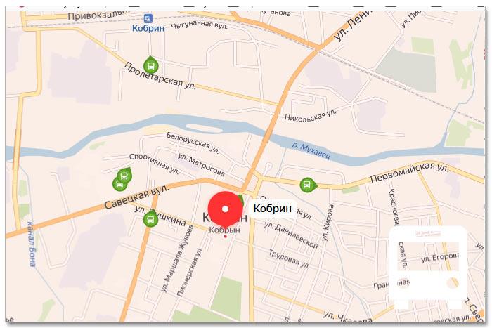 Местоположение транспорта онлайн на карте города Корбина