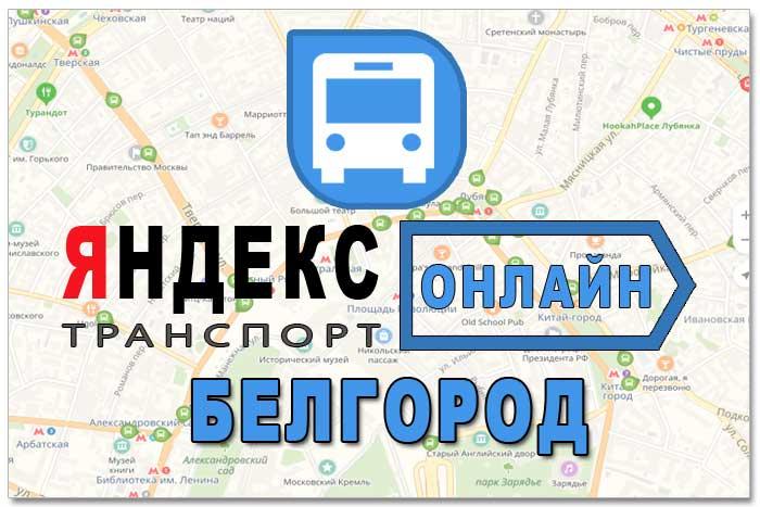 Яндекс транспорт Белгород онлайн