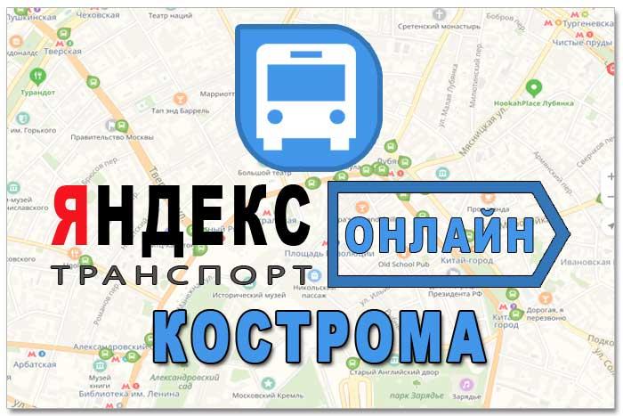Яндекс транспорт Кострома онлайн