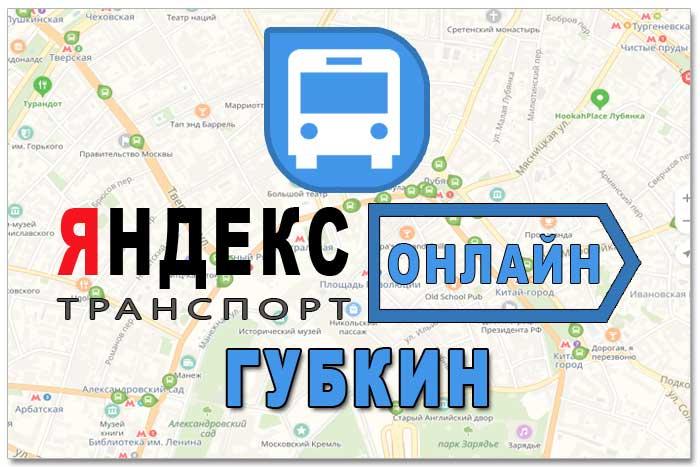 Яндекс транспорт Губкин онлайн