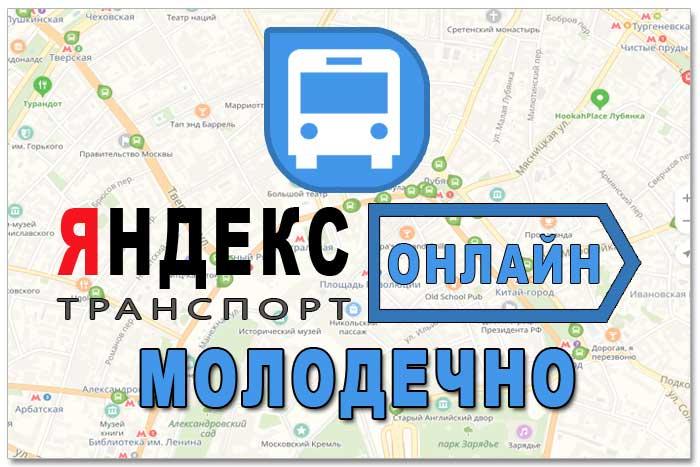 Яндекс транспорт Молодечно онлайн