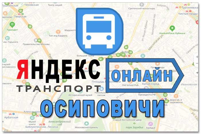 Яндекс транспорт Осиповичи онлайн