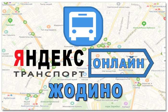 Яндекс транспорт Жодино онлайн